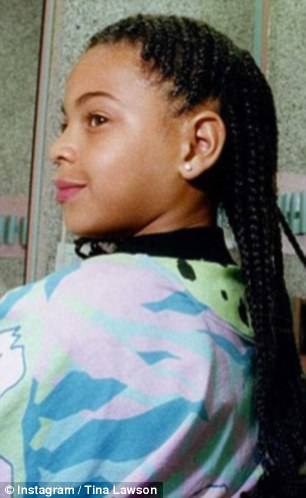 'If Beyonce don't look like Blue on this photo!!!': Tina gushed in her caption about the resemblance between her daughter and granddaughter