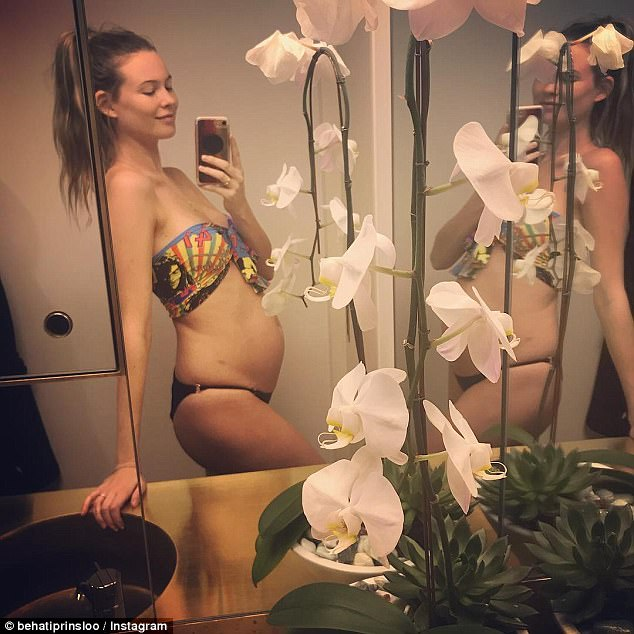 Growing family: The mom revealed on Instgram this month that she is expecting baby number two
