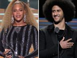 Surprise: Beyonce presented Colin Kaepernick with Sports Illustrated's Muhammad Ali Legacy Award on Tuesday night, and the athlete promised that 'with or without the NFL's platform, I will continue to work for the people.'