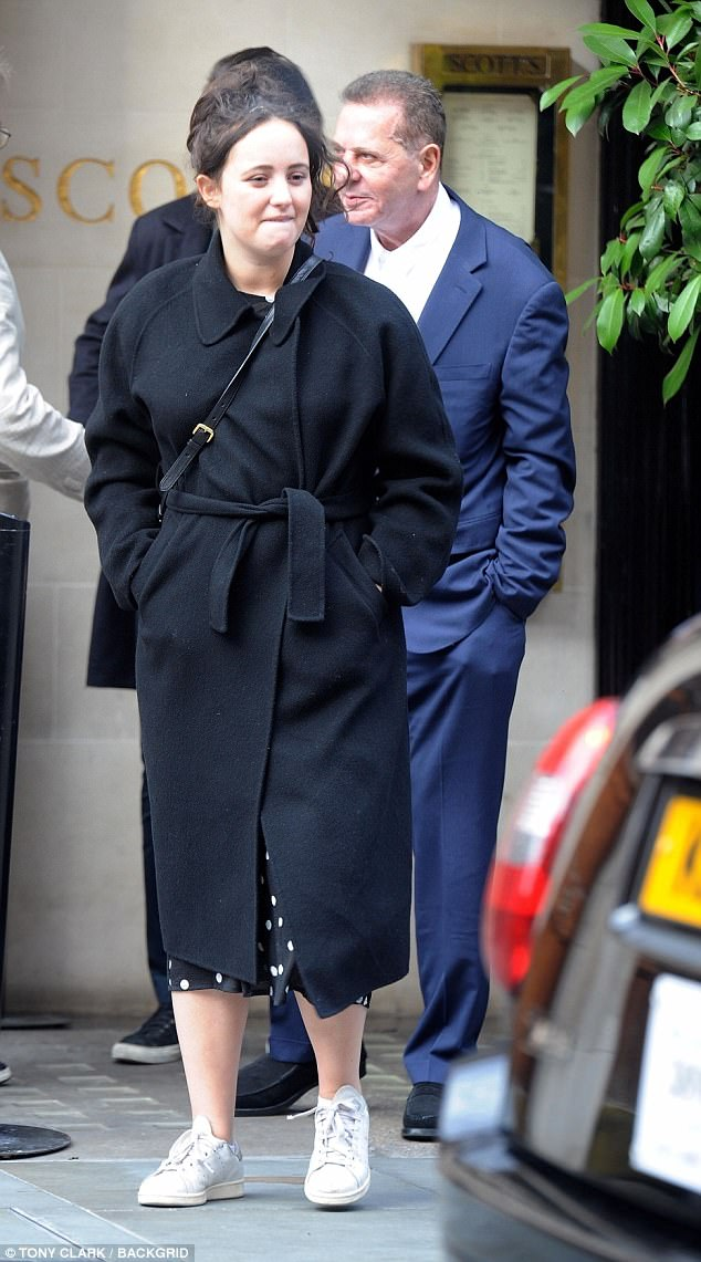 Charles Saatchi enjoyed a spot of lunch at one of London's most opulent eateries as he dined at Scott's restaurant alongside his daughter Phoebe over the weekend