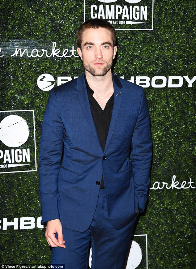 Looking slick: The actor was slick when he arrived on the red carpet on Saturday night