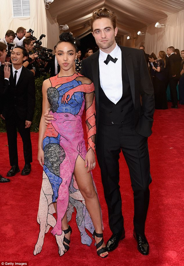 It's over! Robert and FKA twigs (here in May 2015) reportedly split just three months after the actor claimed they were 'kind of' betrothed due to 'drifting apart'