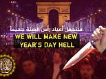 Trying to incite fear:ISIS has threatened an attack on Paris on New Year's Day in yet another digitally created propaganda poster showing crowds of people in front of the Arc de Triomphe