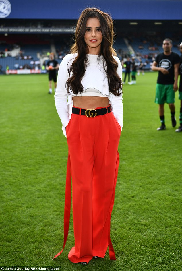 Ab fab: At the start of the month, the singer showed off her enviably toned abs as she attended the #GameForGrenfell charity football match in London