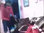 Alex J. Harrison is seen in the above video standing over a teenage girl and whipping her repeatedly with a belt in shocking footage which he shared on social media boastfully to show how he disciplined the girl who is believed to be his daughter
