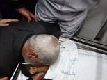 Footage has appeared on Palestinian news outlets claiming to show a father kissing his dead son farewell after he was shot by Israeli soldiers. MailOnline is not able to verify the clip