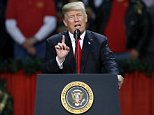 President Donald Trump took to the  stage to the screams of enthusiastic Trump-lovers in an arena where near-freezing temperatures left the seating areas less than full