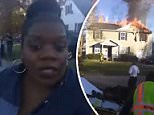 Rhoda Young reported live from the scene of a house fire in Norfolk, Virginia on November 27