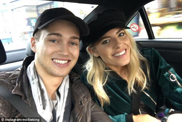 Perfect pair:Speaking about her close friend, Frankie revealed that Mollie and her professional dance partner AJ Pritchard were getting on well and had great chemistry