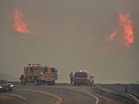 Smoke from the raging wildfires in Ventura County is seen on Saturday. 'I used to love the wind—the feeling of free-spiritedness it brought as it whipped through my hair and made me a little unsteady on my feet,' wrote photographer Jenni Keast. 'Not any more. Now it's just bringing destruction and mayhem as my beloved state burns'