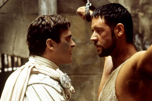 Fight to the death: Joaquin Phoenix and Russell Crowe in the 2000 cinema hit