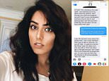 Alabama photographer Faith Grace, 21, (pictured on Twitter) shared a screenshot of heartbreaking texts she received