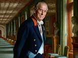 The beautiful painting captures the craggy character of the 96-year-old royal as he stands in the impressive Grand Corridor at Windsor Castle