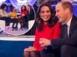 For use in UK, Ireland or Benelux countries only  Undated BBC handout photo of  Radzi Chinyanganya and Lindsey Russell (left) with The Duke and Duchess of Cambridge during a visit to the Blue Peter studios in Salford. PRESS ASSOCIATION Photo. Issue date: Tuesday December 12, 2017. They have followed in the footsteps of the Queen by being awarded a Gold Blue Peter badge. They received their badges at the Blue Peter studios in Salford for their campaign work around mental health and mental health issues affecting children. See PA story ROYAL BluePeter. Photo credit should read: BBC/Dan Vernon/PA Wire NOTE TO EDITORS: Not for use more than 21 days after issue. You may use this picture without charge only for the purpose of publicising or reporting on current BBC programming, personnel or other BBC output or activity within 21 days of issue. Any use after that time MUST be cleared through BBC Picture Publicity. Please credit the image to the BBC and any named photographer or independent pr