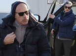 The disgraced former Today Show host Matt Lauer was spotted with his daughter an estranged wife on Sunday - doing some Christmas shopping and watching the young girl during her horse riding lessons
