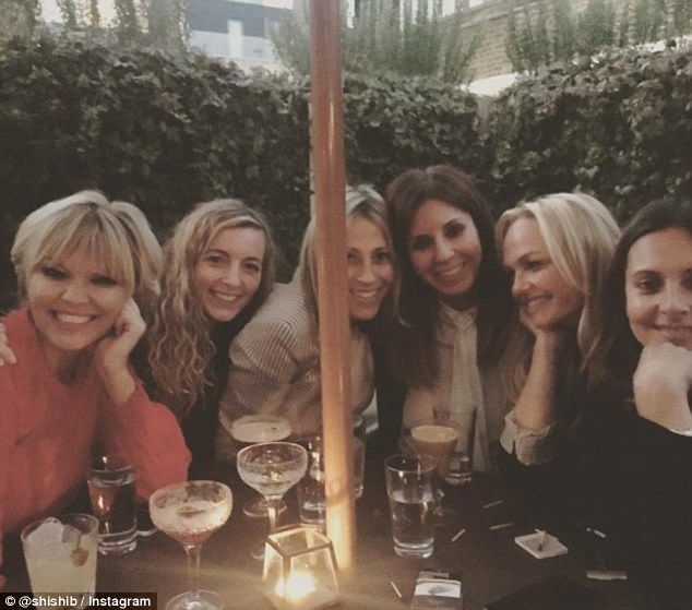 Blonde ambition: Branding themselves the London Lady Squad they were also joined later in the evening by former X Factor presenter Kate Thornton