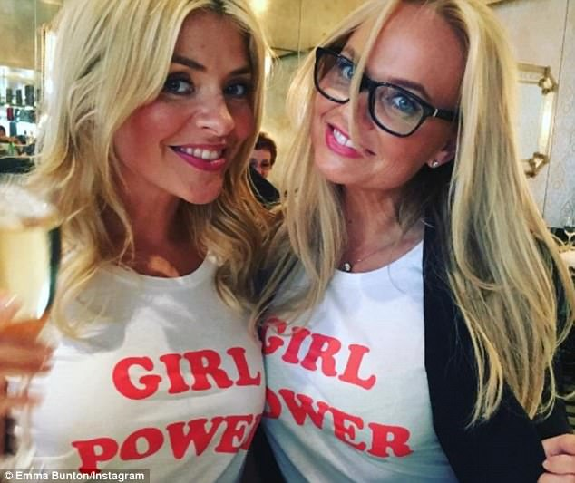 Making a statement: It was certainly a case of Girl Power on Thursday, as Spice Girl Emma Bunton took a bevvy of gal pals out for a long lunch