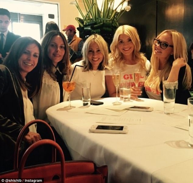 Ladies that lunch: The lunch turned into somewhat of a 90s girl group reunion as All Saints singer Nicole Appleton joined them as they sipped on cocktails