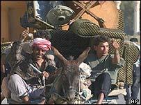 Looting spree in Baghdad