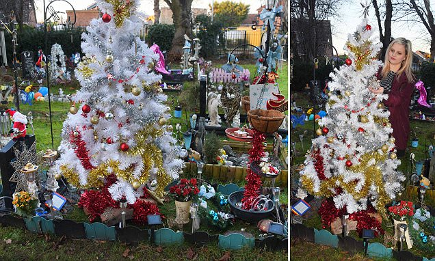 Mother is ordered to remove Christmas tree on baby's grave