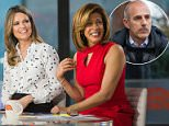 The Today show has seen a bump in ratings ever since Matt Lauer was fired over claims of sexual misconduct. Hoda Kotb (right) has been filling in as Savannah Guthrie's (left) co-anchor (the two pictured above on the December 11 broadcast)