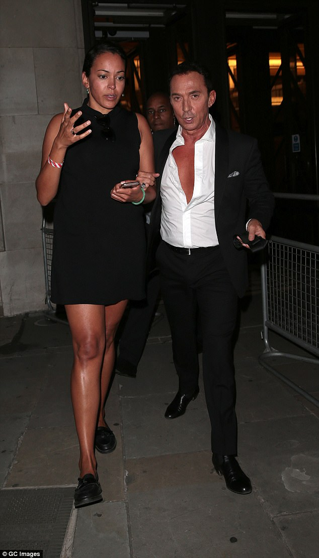 It's a 10! Bruno Tonioli also made his way home hot on the heels of the contestants