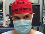 Dr Rob Hackett (pictured), a Sydney based anaesthetist, decided to write his name and profession on his scrub cap to avoid mix-ups in the operating theatre