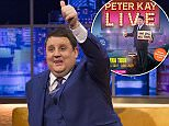 Peter Kay, pictured on The Jonathan Ross Show last month, has today cancelled his hotly-anticipated stand-up comedy tour