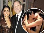 Trapped:Salma Hayek is revealing that she was sexually harassed by Harvey Weinstein for years, claiming she repeatedly turned down his advances (Hayek above with Weinstein in 2010)