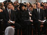 (From left) Prince Harry, Kate, Camilla, Prince William and Prince Charles all looked sombre as they attended a memorial service for the victims of the Grenfell Tower fire at St Paul's Cathedral today