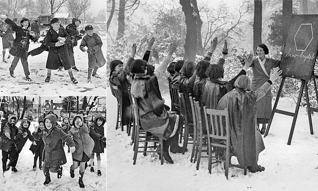 Photos show how Britain used to battle through the snow