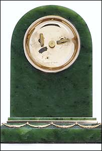 Faberge clock which may be auctioned at Christie's