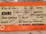 The businessman angrily tweeted a photo of the schoolgirl's ticket, on which a Virgin Trains guard had scribbled 'not a child' as he believed her to be older than 15