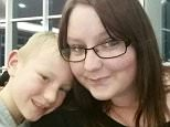 Wyatt Pitt, from Liscard in Wirral, found his mother Carly, aged 28, (pictured together) had died in her sleep