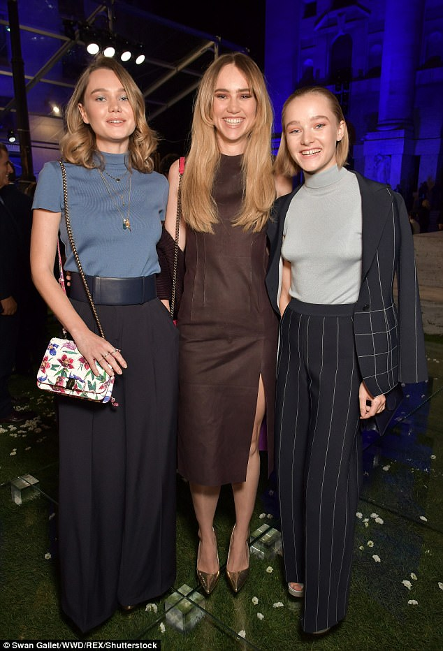 Sisters:The star-studded show was attended by the incredibly glamorous Waterhouse sisters, who made a rare public appearance all together