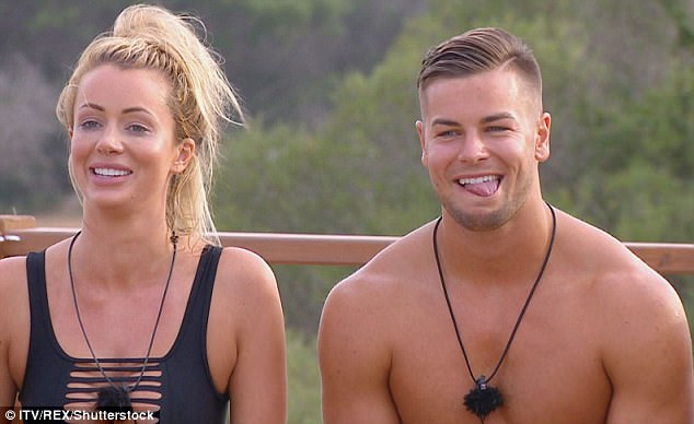 Close: The pair came third on the series and Chris insists he's keen to make their romance official by getting married