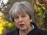 Theresa May (pictured in Maidenhead today) hailed the agreement as an 'important step' on the road to a 'smooth and orderly Brexit'