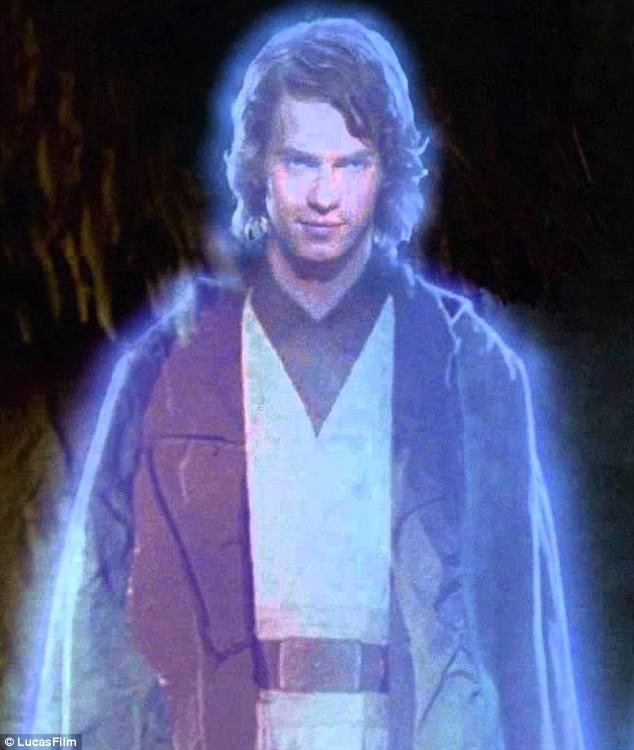 Only there in spirit: It is thought the force ghost of Anakin will not be seen