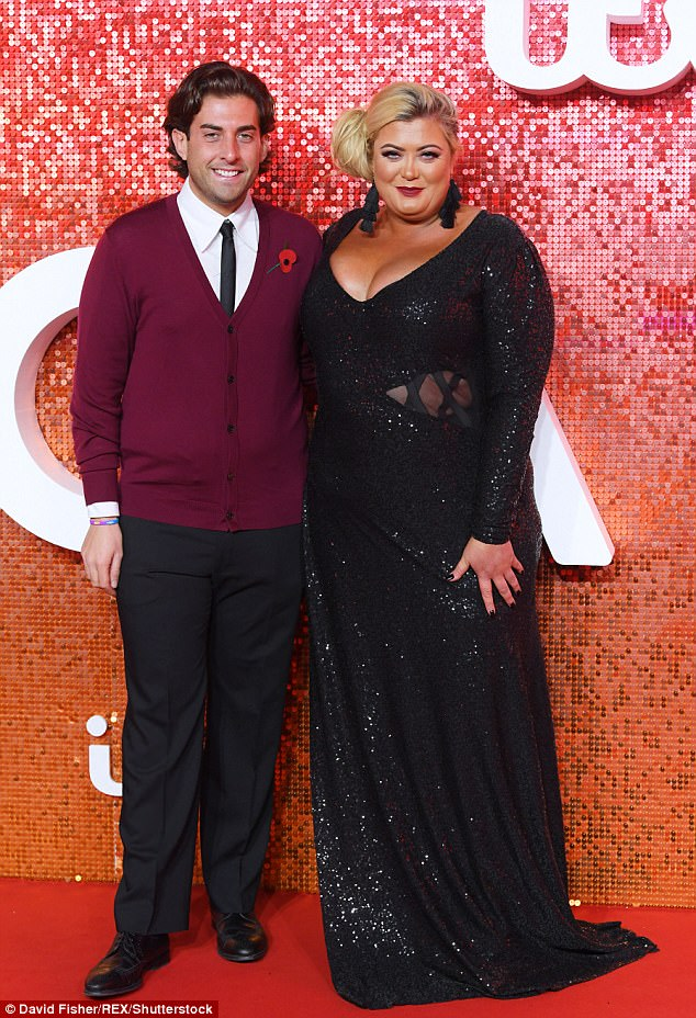 Back on? Gemma is rumoured to have rekindled her romance with her former flame James 'Arg' Argent after he reportedly spent the night at the star's home