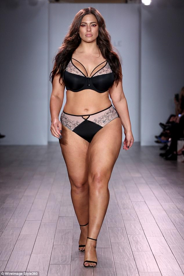 Walk this way: The photo was actually an image taken of the star during the Holiday 2016 show for Addition Elle, a lingerie company for plus-size women that has featured Ashley as a model