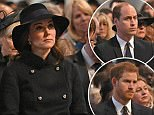 (Front row left to right) Prince Harry, The Duke and Duchess of Cambridge, The Duchess of Cornwall and The Prince of Wales attend the Grenfell Tower National Memorial Service at St Paul's Cathedral in London, to mark the six month anniversary of the Grenfell Tower fire. PRESS ASSOCIATION Photo. Picture date: Thursday December 14, 2017. See PA story MEMORIAL Grenfell. Photo credit should read: Stefan Rousseau/PA Wire