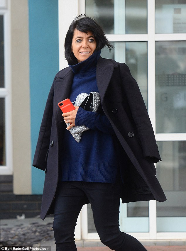 'I look a mess!':It was clear the cast had enjoyed a wild night out together, when host Claudia Winkleman said as she left the hotel on Sunday morning: 'I've had a bit of a late night'