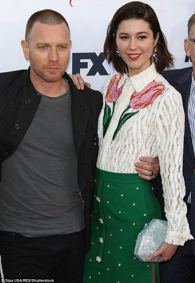 Off-screen chemistry: Ewan starred alongside new girlfriend Mary (pictured) in the FX series Fargo - in which she played his sexy love interest Nikki Swango - but pictures captured them kissing a matter of weeks ago