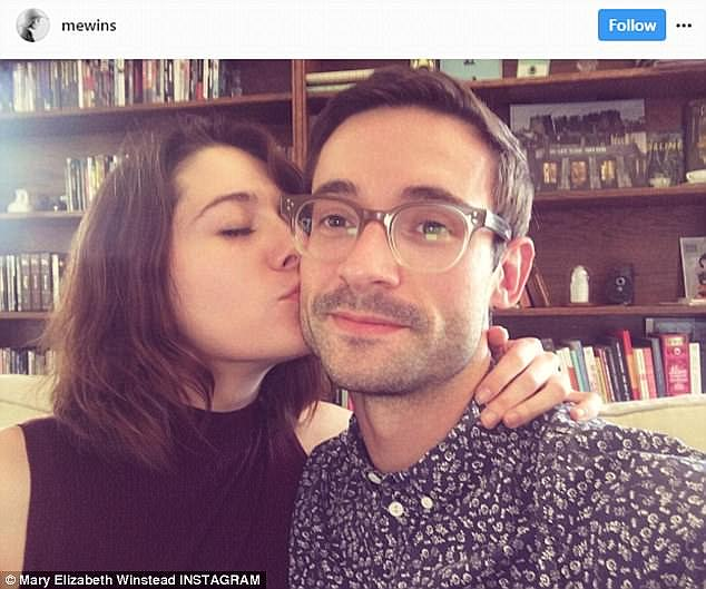 No love lost: Mary and Riley announced their separation in May, after seven years together, by posting this picture alongside a caption promising to love each other forever but Riley later removed his from his profile