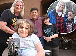 An entire family of four has come out as transgender in Queen Creek, Arizona; Trans man Daniel Harrott (Back, maroon shirt), 41, is seen here with fiancee and trans woman, Shirley Austin (L), 62, trans son, Mason (R), age 11, and trans daughter, Joshua (Center, white shirt with stripes), age 13