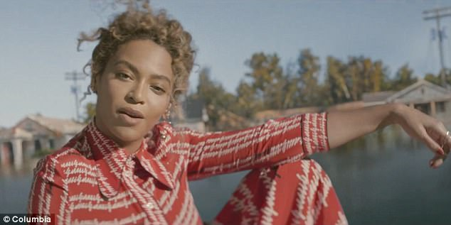 Politically motivated:Beyonce was widely applauded for the 2016 song which celebrates Southern black culture and makes poignant commentary about police violence and 2005's Hurricane Katrina, which destroyed large parts of The Big Easy
