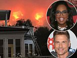 'Still praying for our little town. Winds picked up this morning creating a perfect storm of bad for firefighters,' Oprah said on Twitte