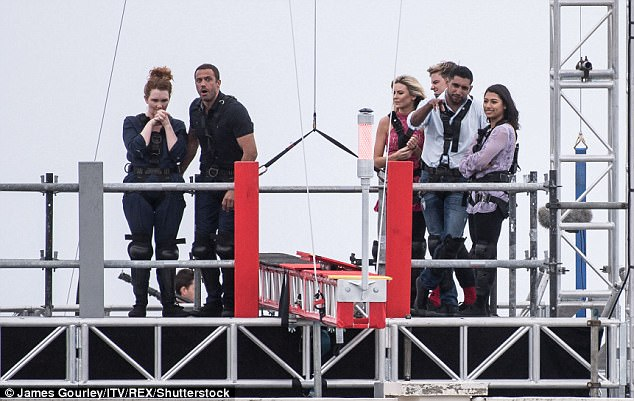 Oh no! The stars looked terrified at the challenge ahead in a bid to win a meal ticket