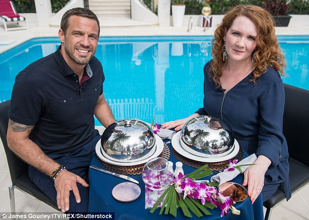 Already buddies: As the new pairs sat to down for their final feast, actor Jamie Lomas revealed he was already pals with his jungle buddy Jennie McAlpine, who stars in Coronation Street