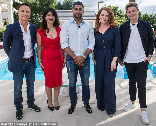 Star-studded: Five of the celebrities arrived to meet their jungle buddies ahead of a journey into the jungle